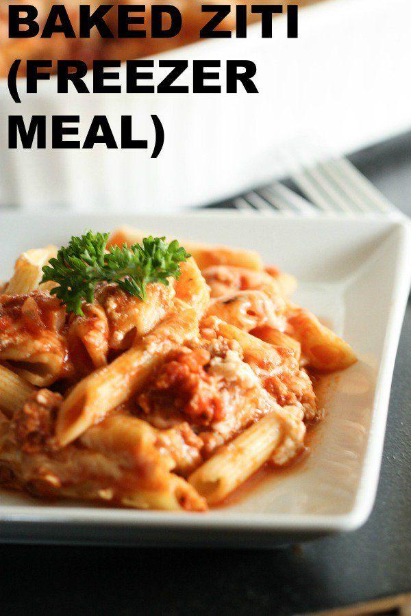 Baked Ziti (Freezer Meal) images