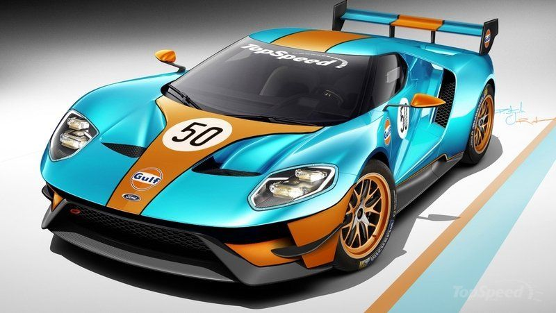 Race Version Of The Ford Gt Will Debut At Le Mans Ford Gt Ford Ford Gt Gulf