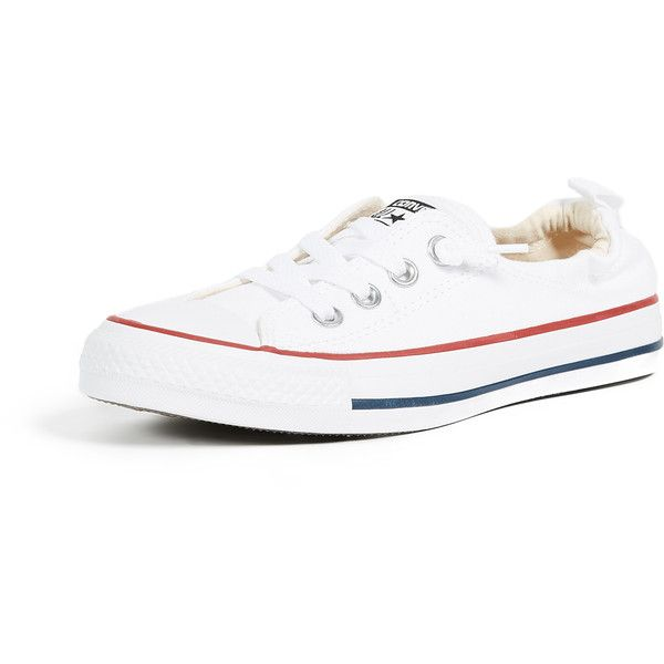 Converse Chuck Taylor All Star Shoreline Slip On Sneakers ($56) ❤ liked on  Polyvore featuring shoes, sneakers, white, white low top sneakers, ...