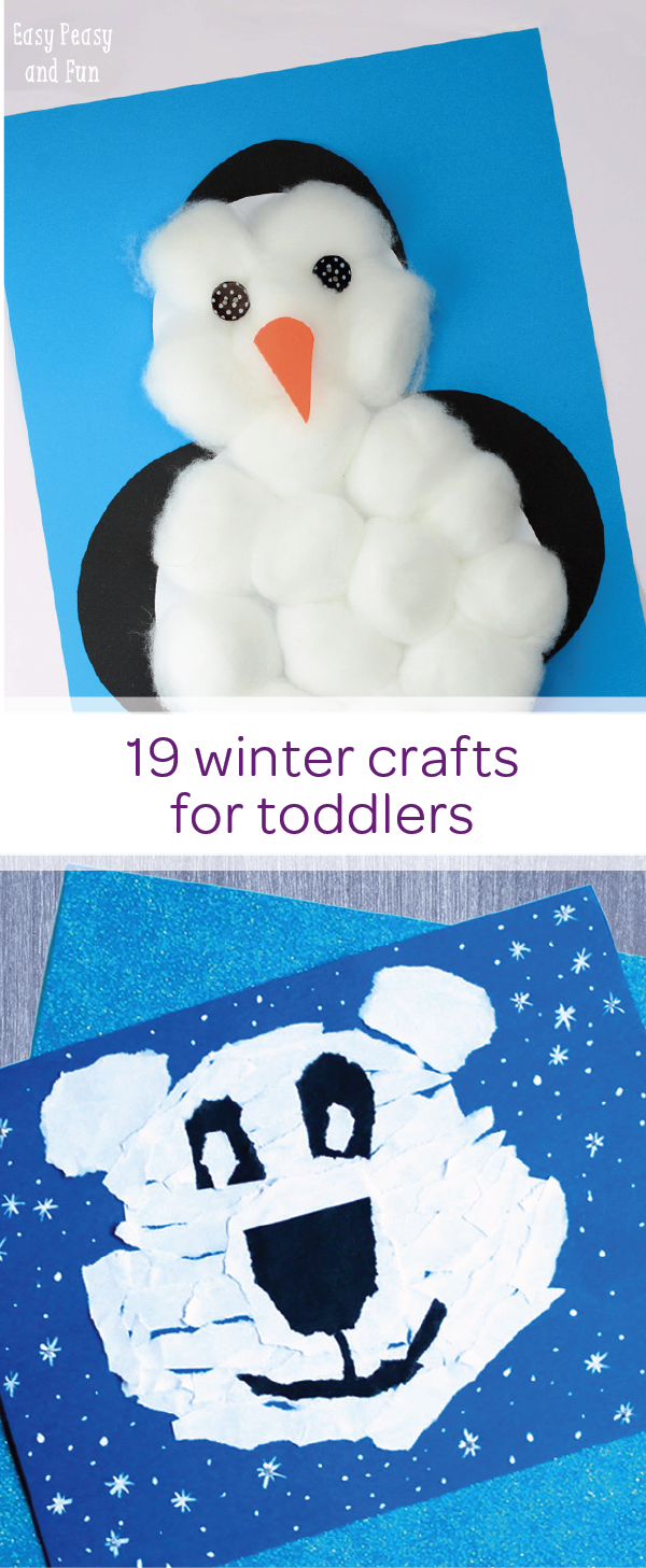 Simple Winter Crafts For Toddlers Toddler Play Activities