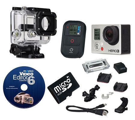 GoPro HERO3 Black Camcorder w/ Editing Software& Accessories — QVC.com