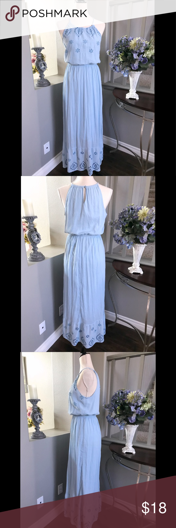 Womenus old navy long blue maxi dress size s in my posh