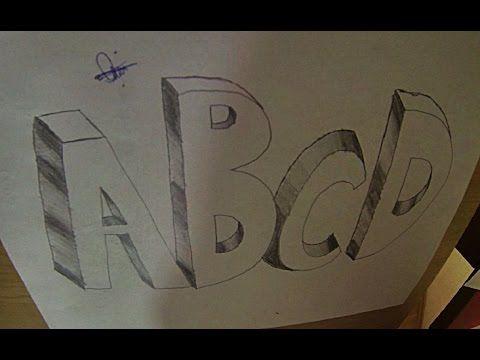 3 Boyutlu Harf Nasil Cizilir How To Draw 3d Letters Abcd