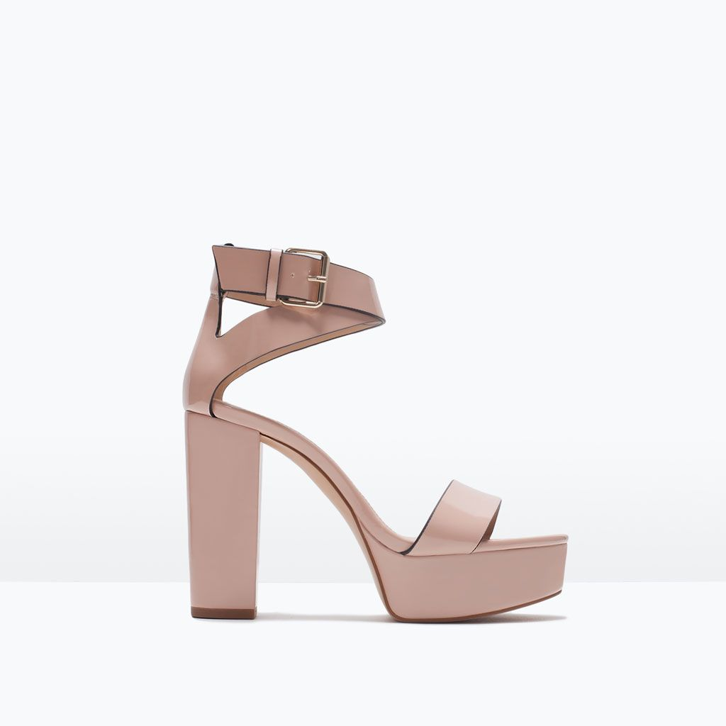 424e185478cd PLATFORM SANDAL WITH BUCKLE from Zara
