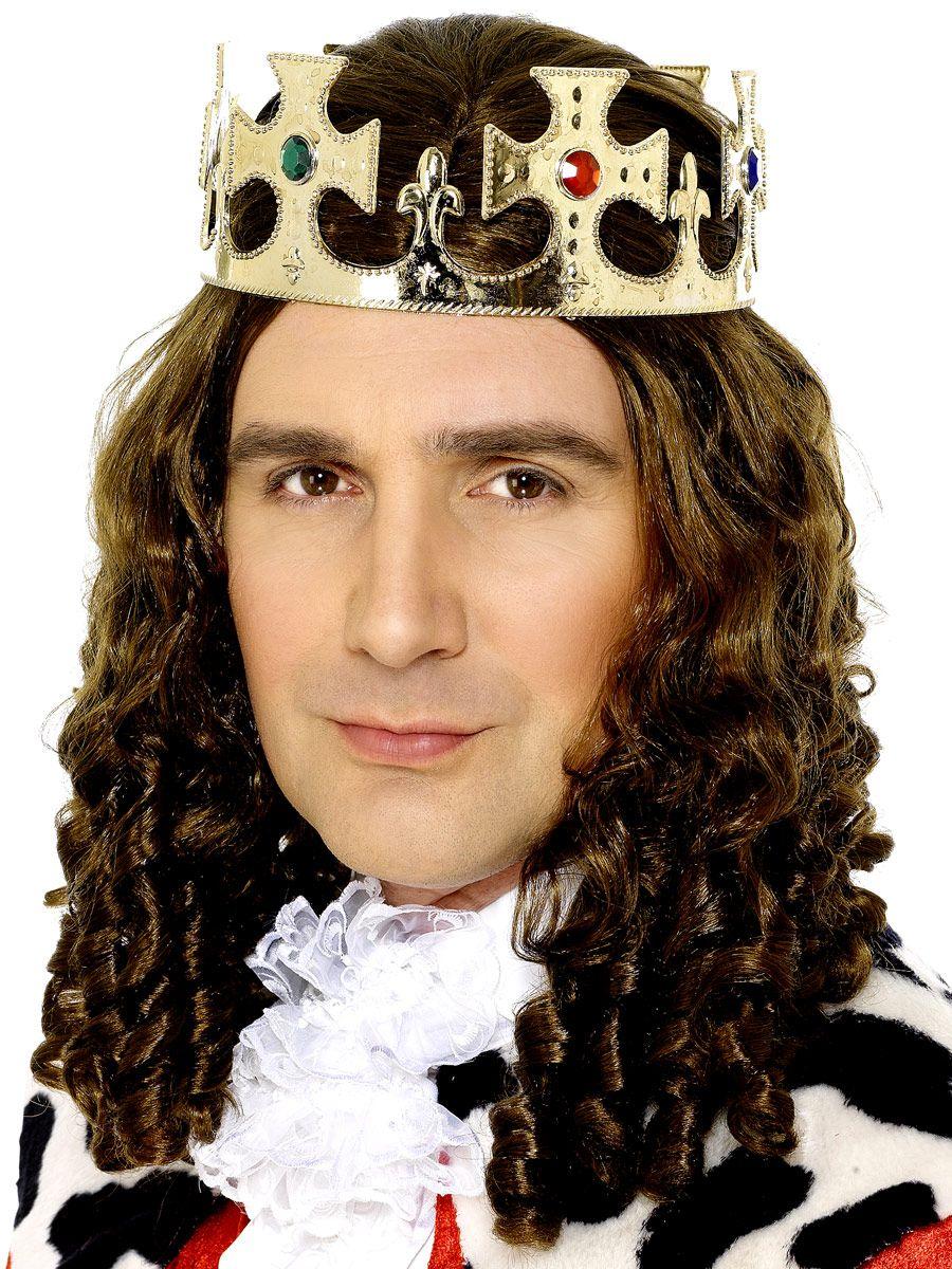 CHRISTMAS FANCY DRESS MENS JEWELLED KINGS CROWN