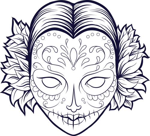 free sugar skull poster. click to get. **** fill in this beautiful ... - Coloring Pages Roses Skulls