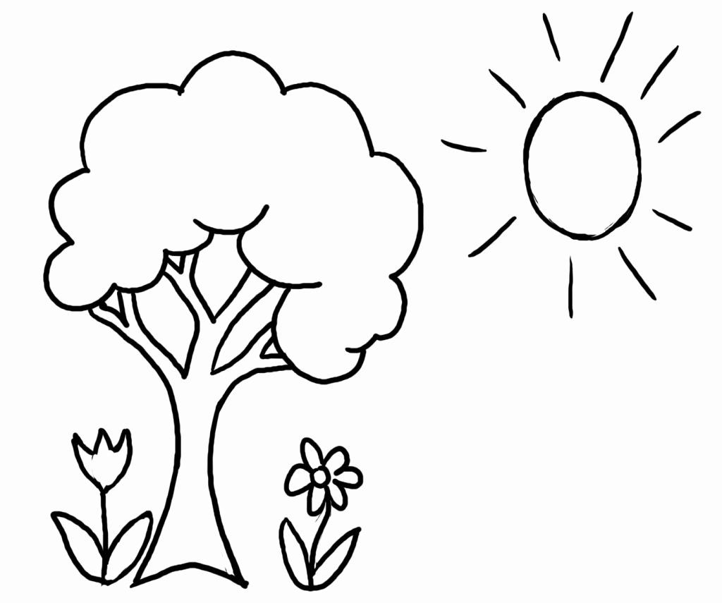 Tree Coloring Worksheets For Preschoolers New Preschool