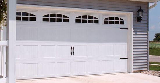 Garage Doors White For Trim Garage Doors Diy Garage Door Carriage House Garage Doors