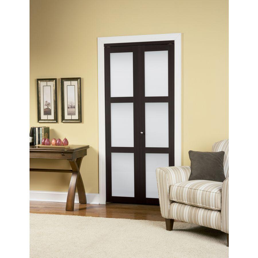 Shop reliabilt 3 lite frosted glass bi fold closet - Interior bifold doors with glass ...