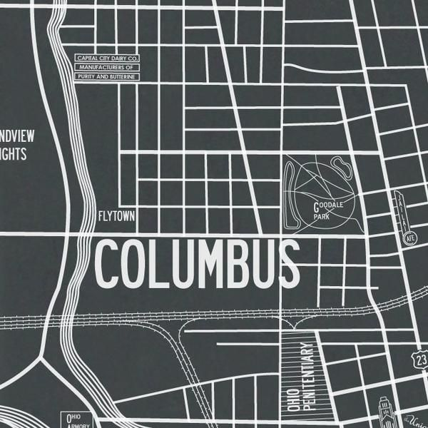 The Apartment B Vintage Map Of 1937 Columbus Is A True