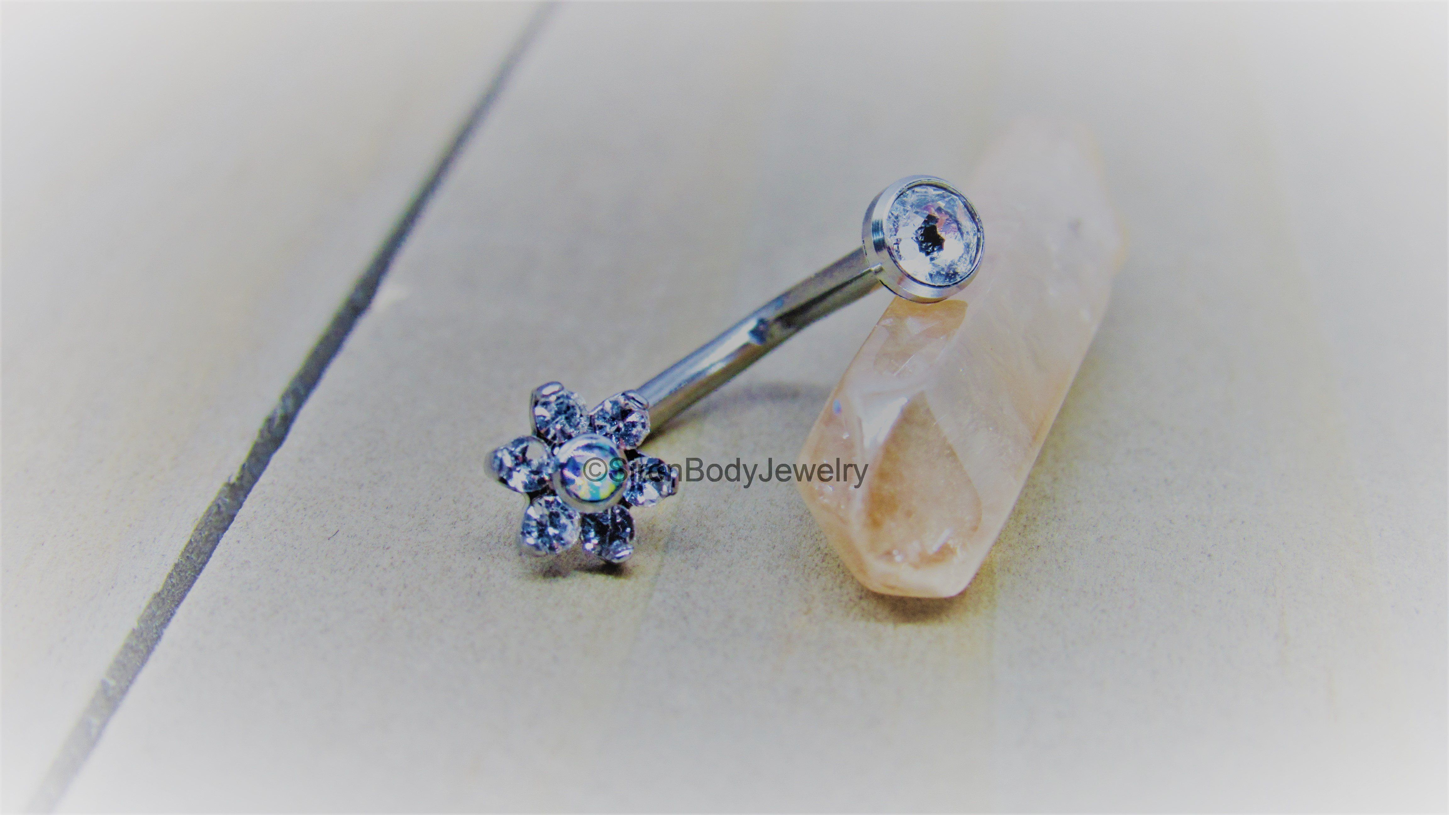 Belly button piercing jewellery  J curve belly button piercing ring g deep navel piercing barbell