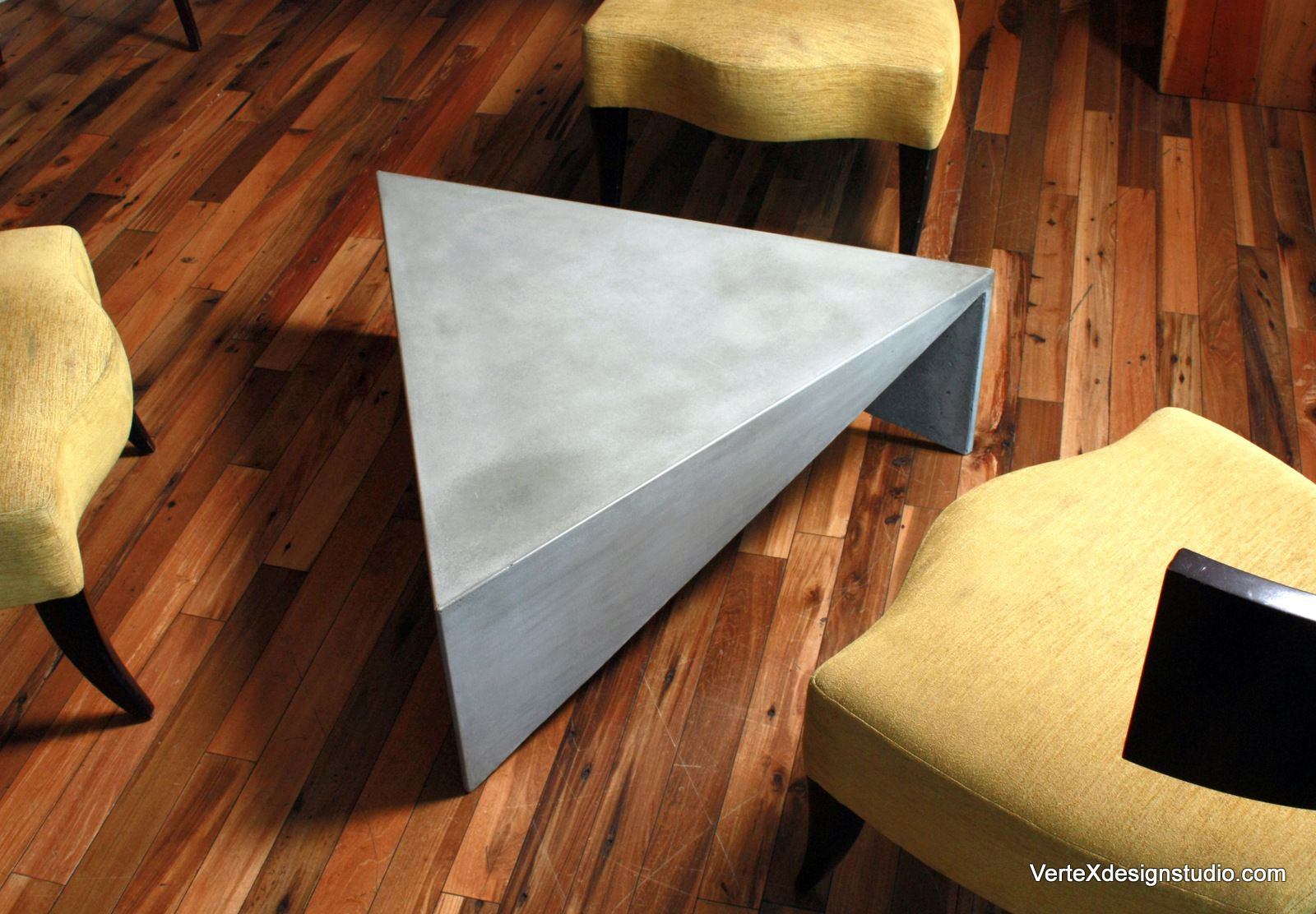 Concrete triangle coffee table cool pinterest concrete concrete triangle coffee table geotapseo Choice Image