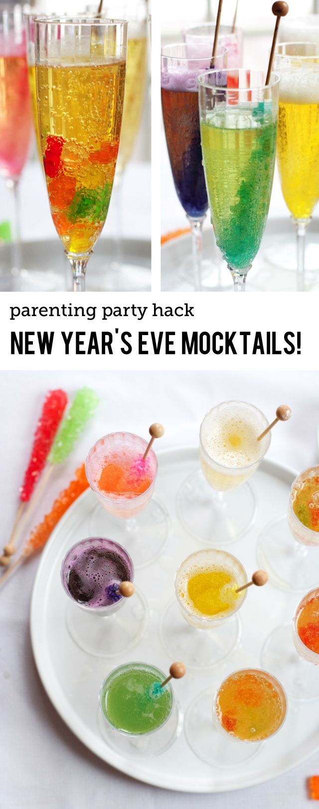 Super Simple New Year's Eve Mocktails for the Kids - Modern Parents Messy Kids