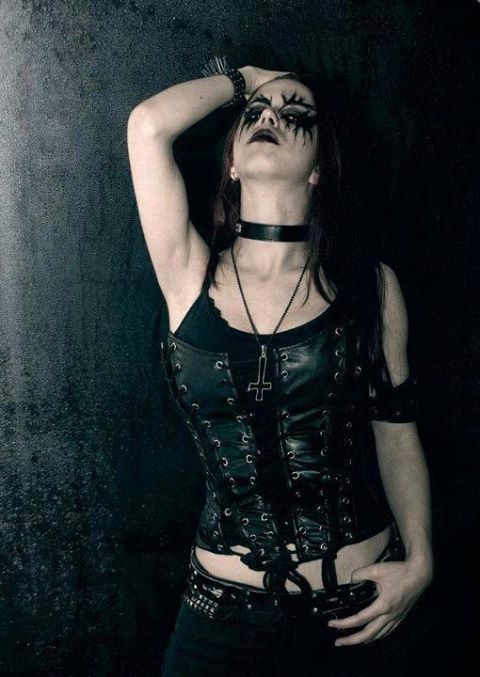 I like the corpse paint without the white face as well ...