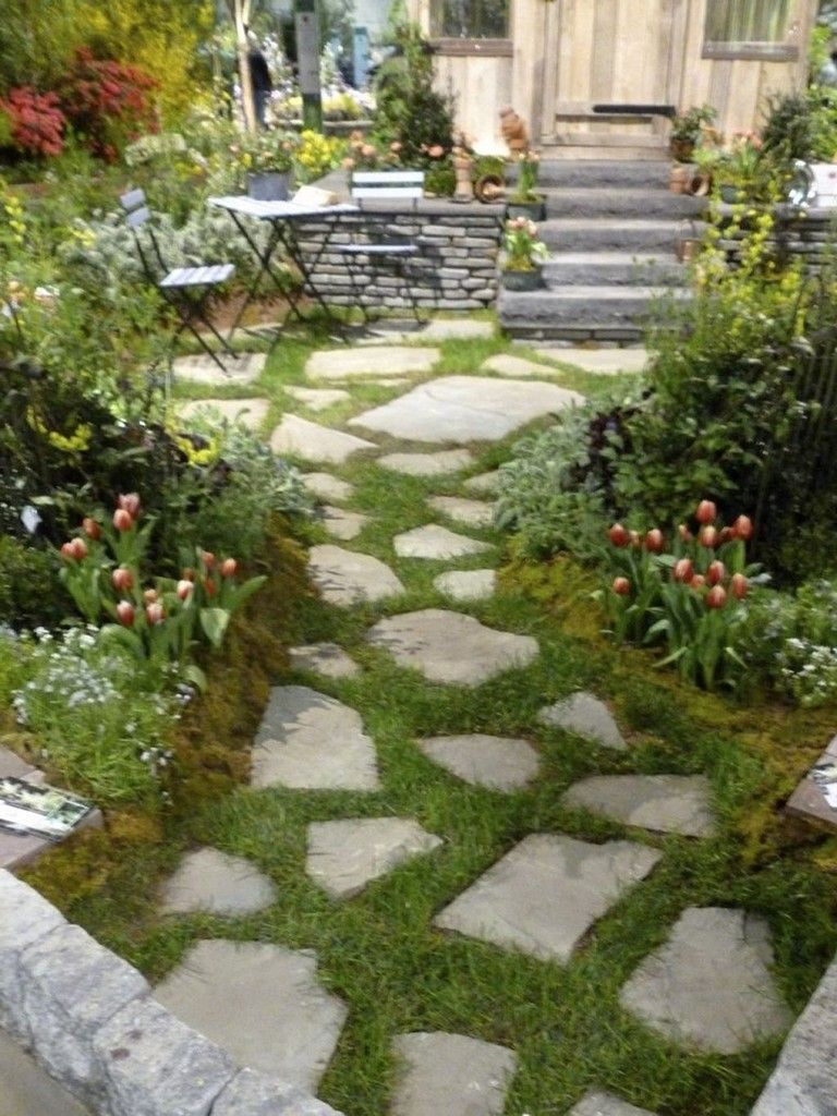 Pin By Roxanne Gerochi On Landscaping Ideas Pathway Landscaping Front Yard Garden Rock Garden Landscaping