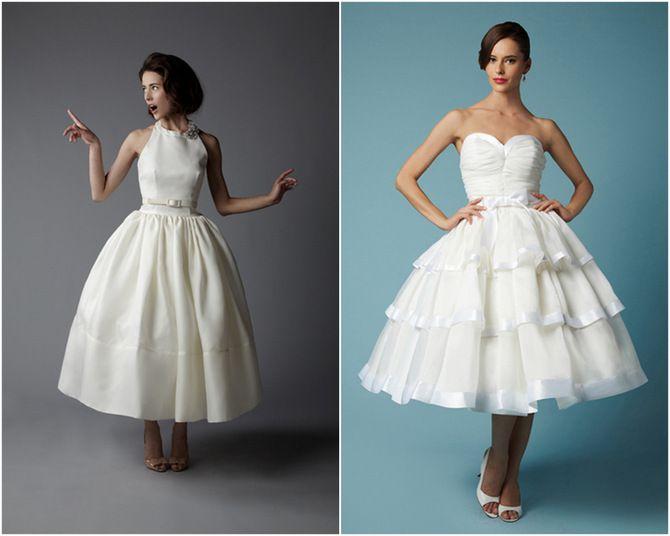 vintage tea length dress - Dress Yp