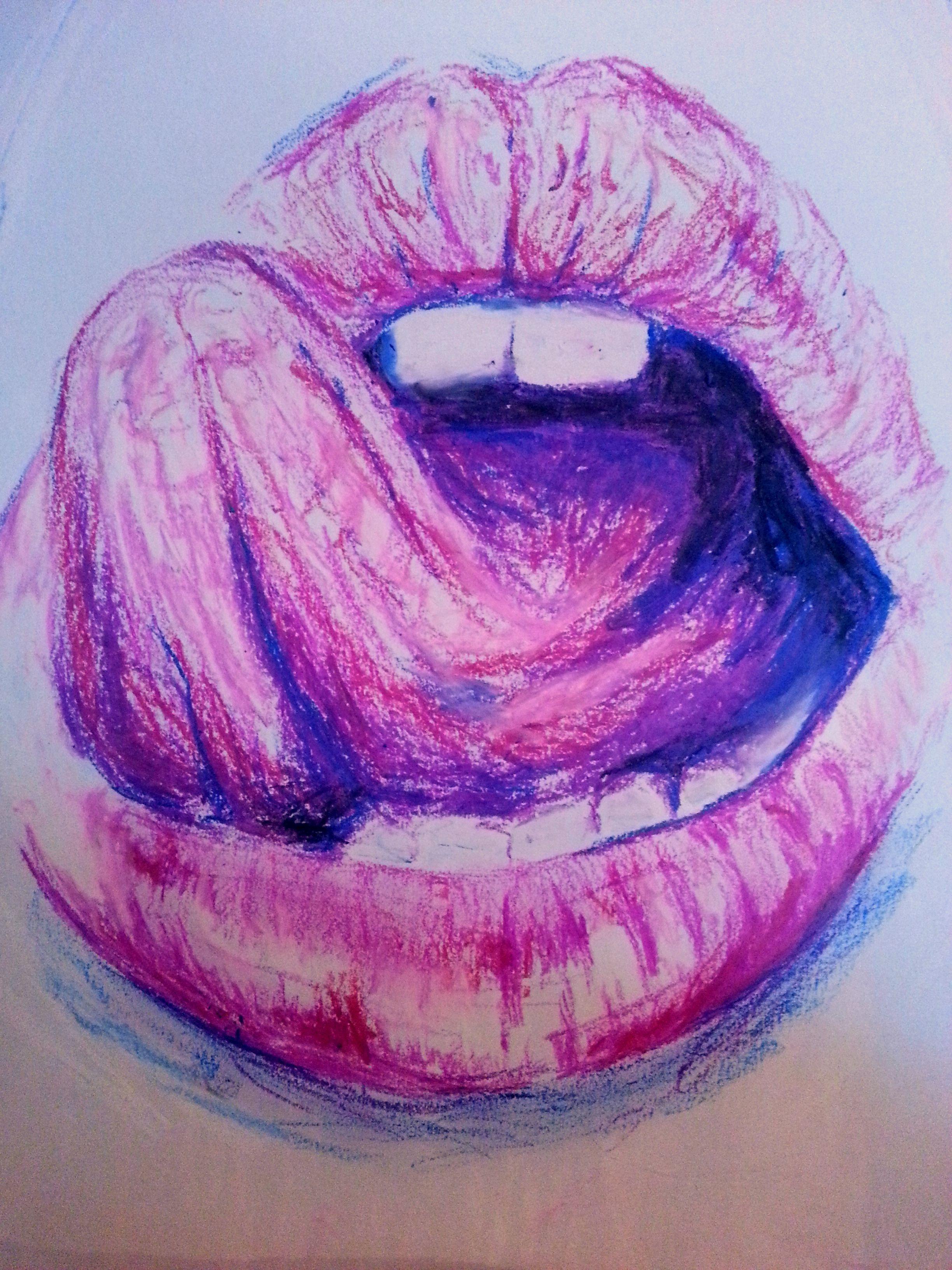 Красивые губы картинки нарисованные
