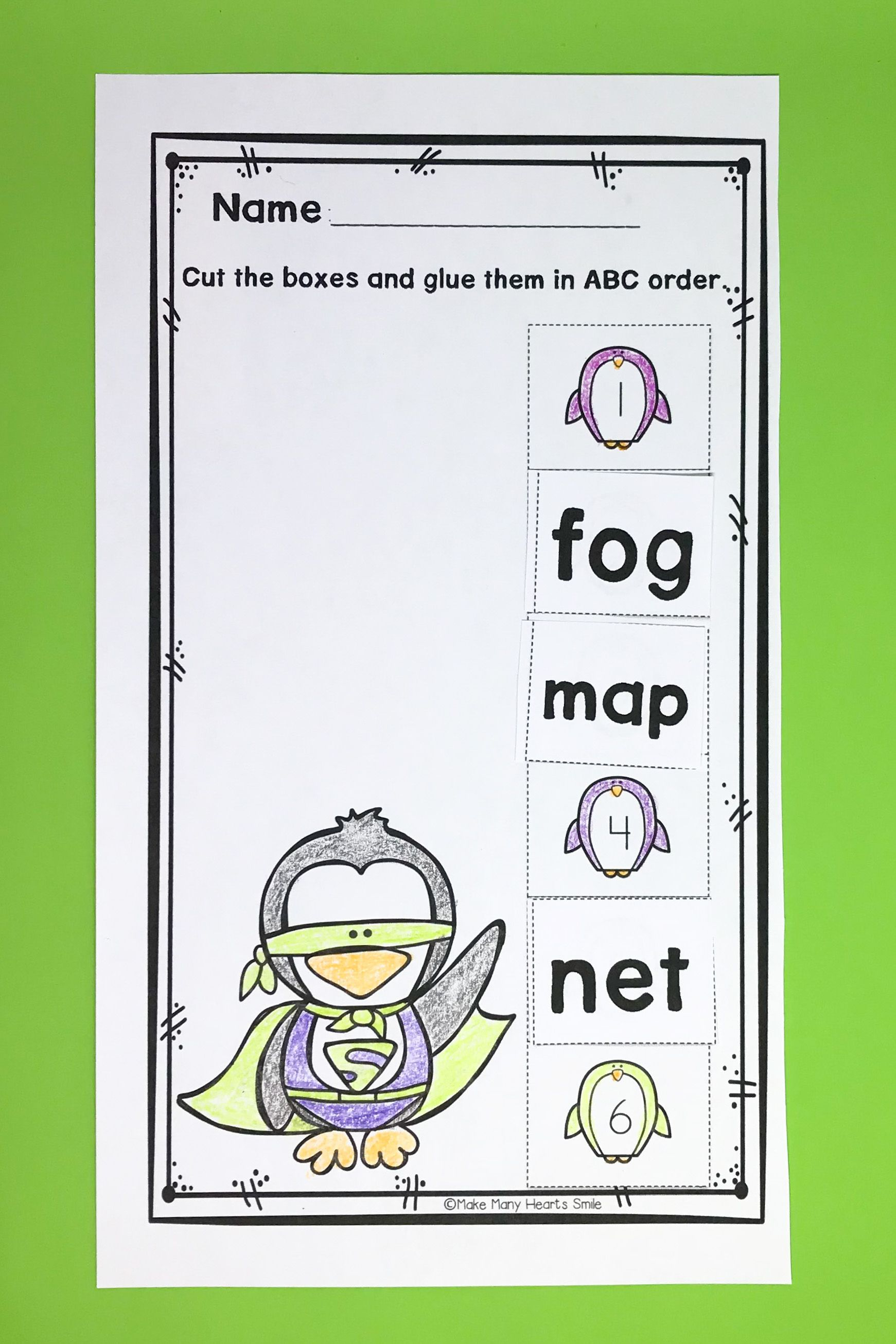 Editable Abc Order Worksheets Mhs12 With Images