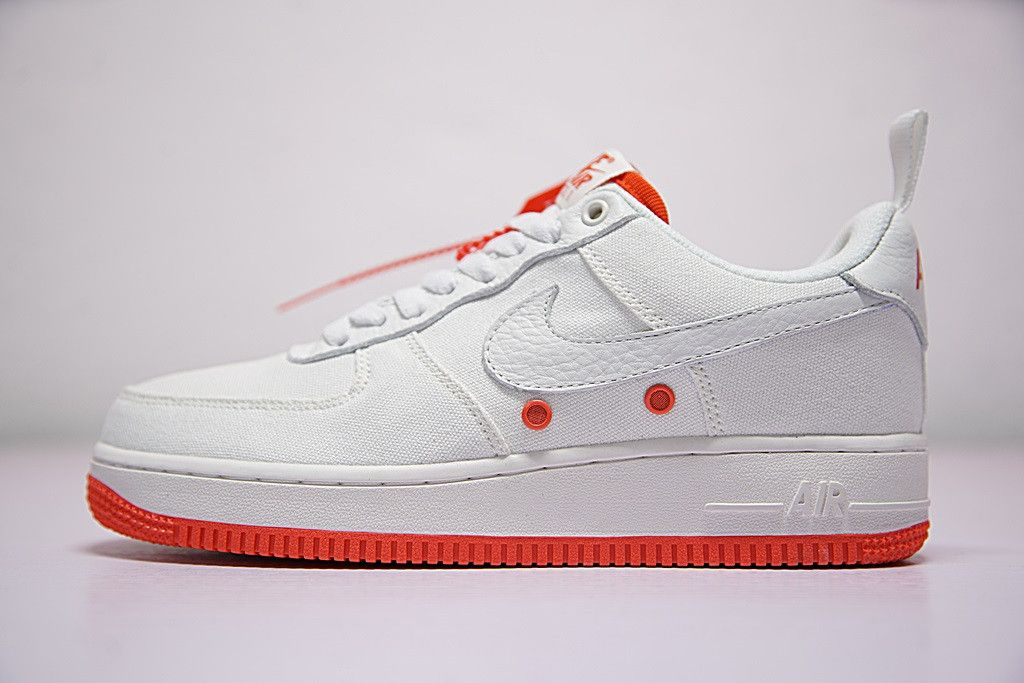 Nike Air Force 1 Low Premium White Total Orange Cool Sneakers