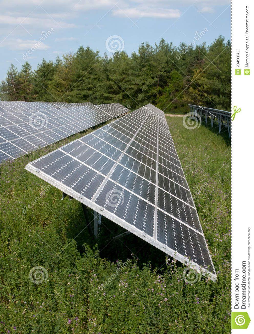 Energy Solar Panels Of A Highway Italian A Solar Panel Photovoltaic Solar Solar Renewable Electricity