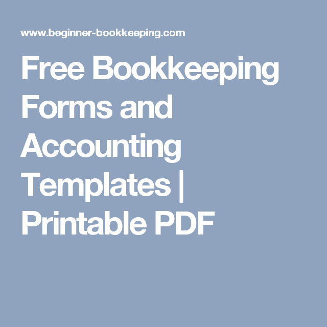 free bookkeeping forms and accounting templates small business