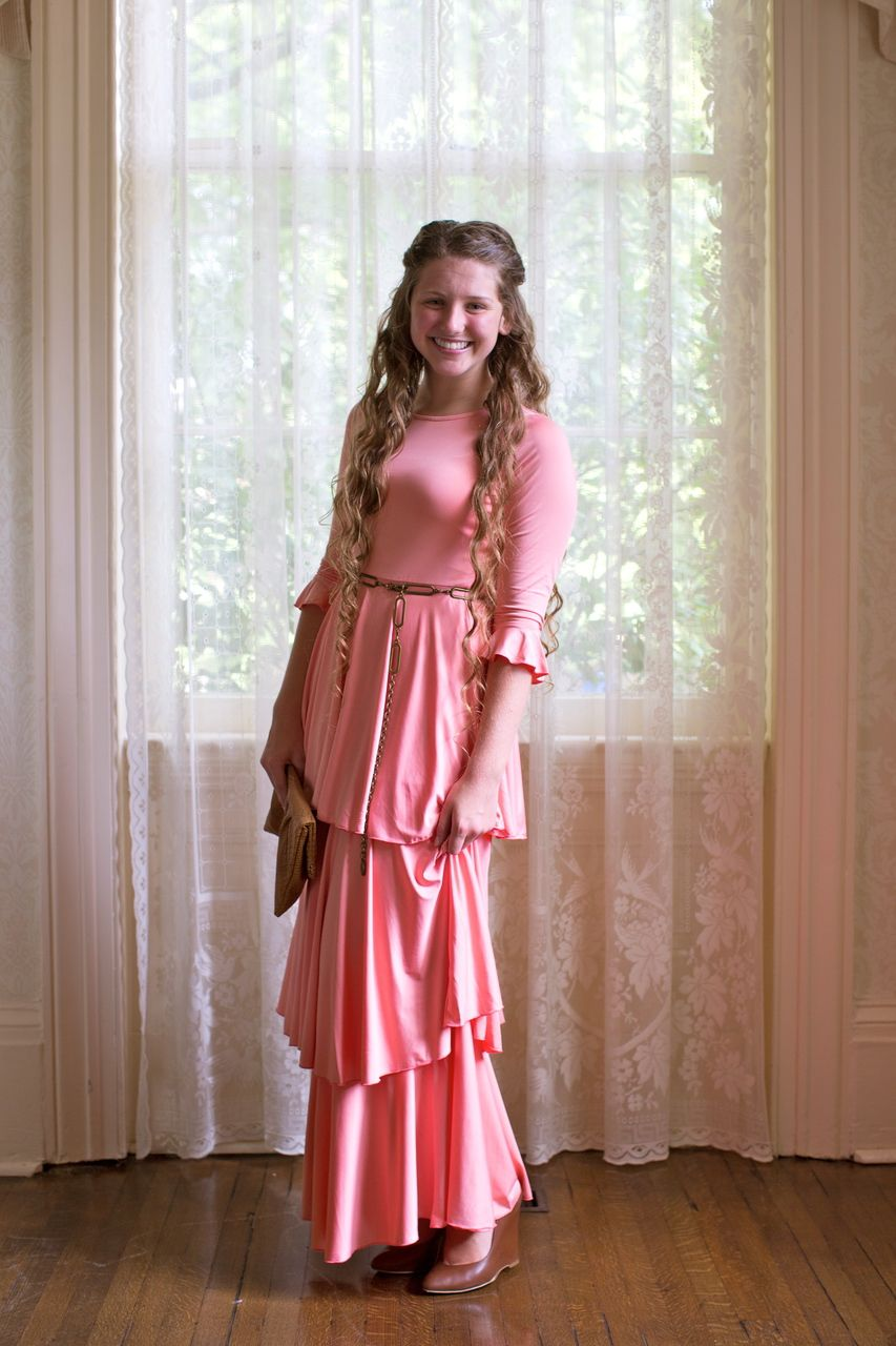 The darling dress peach lace modest bridesmaid dresses and