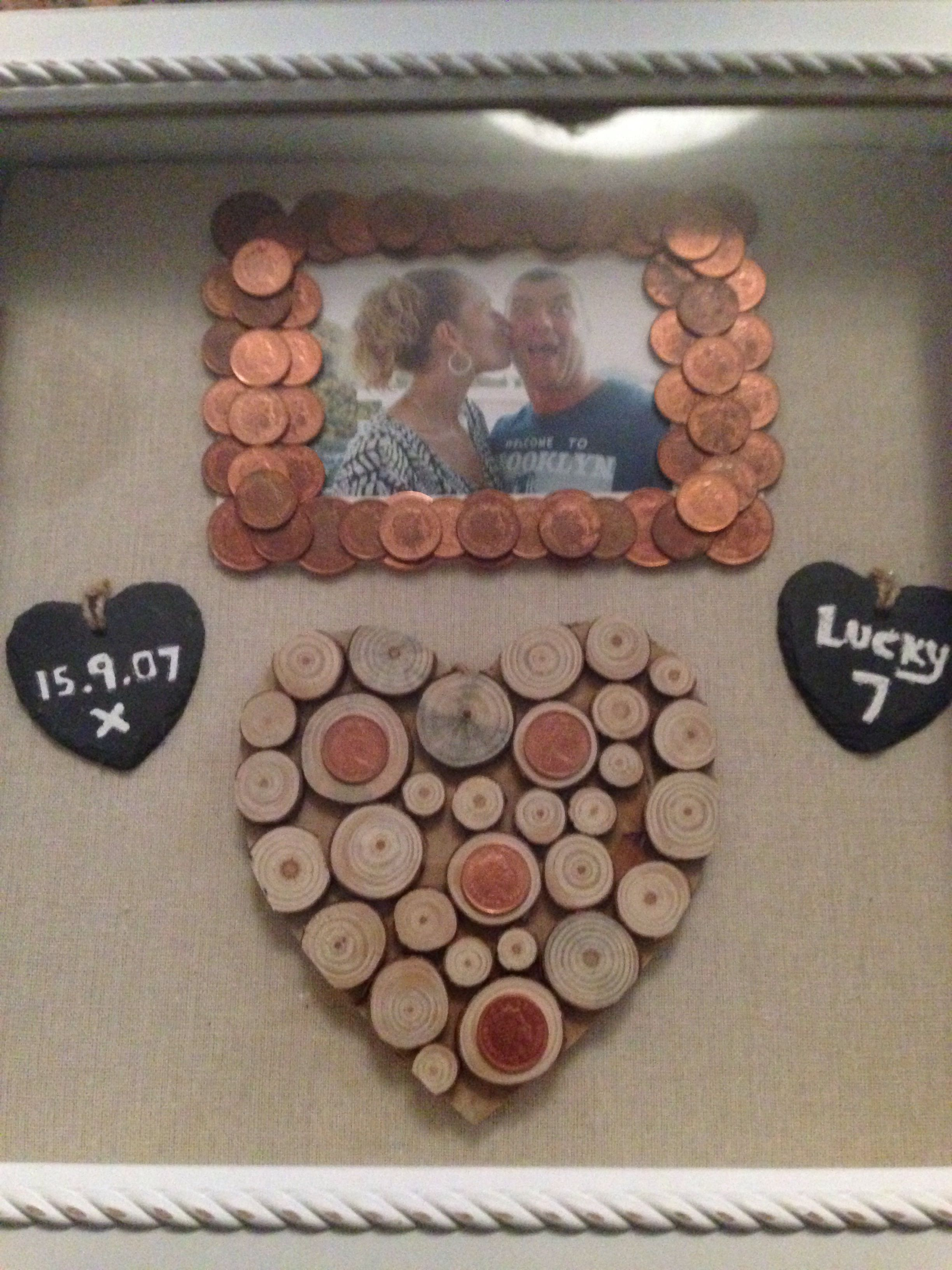 7th Wedding Anniversary Gift To My Husband X 7 Years Is Copper So All 1p And 2p 7th Anniversary Gifts Diy Anniversary Gifts For Him Seven Year Anniversary Gift