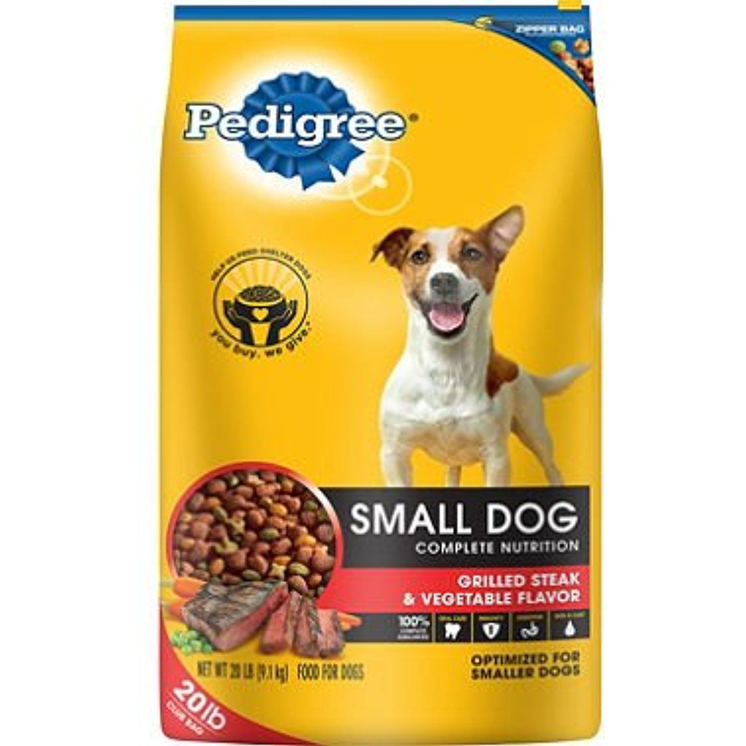 Pedigree Small Dog Targeted Nutrition Dog Food Steak Vegetable