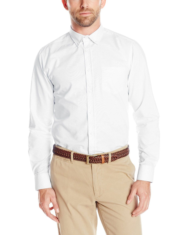 IZOD Uniform Young Men's Long-Sleeve Oxford Shirt at Amazon Men's Clothing store: