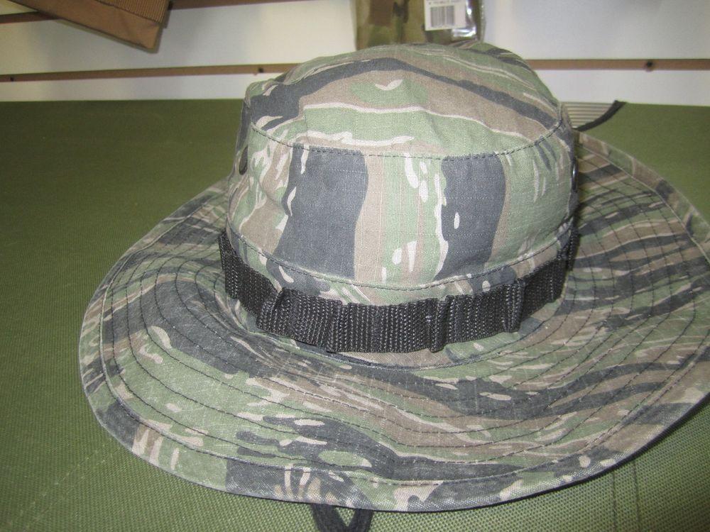 acdd65e3b60f0 Vietnam Era Reproduction Boonie Hat Size 7 3 4 Tiger Stripe Camo | eBay