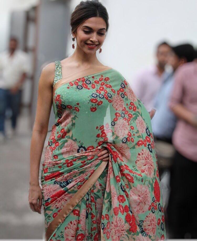 Deepika Padukone | Beautiful saree, Indian designer wear ...