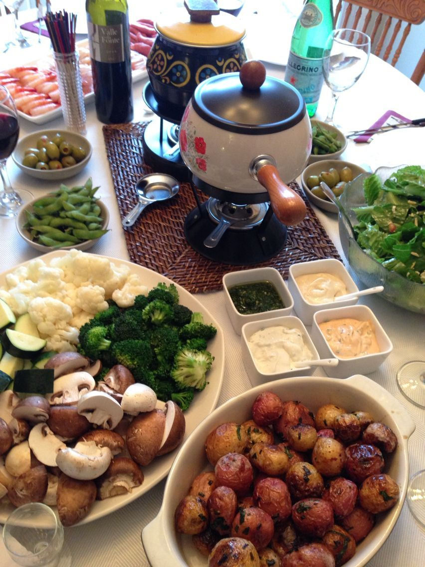 Fondue Chinoise! Best made with broth along with beef, chicken and shrimp. #brothfonduerecipes Fondue Chinoise! Best made with broth along with beef, chicken and shrimp. #brothfonduerecipes