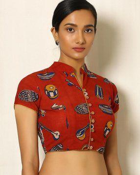 4263ca99befbc Kalamkari Print Cotton Blouse - blouses