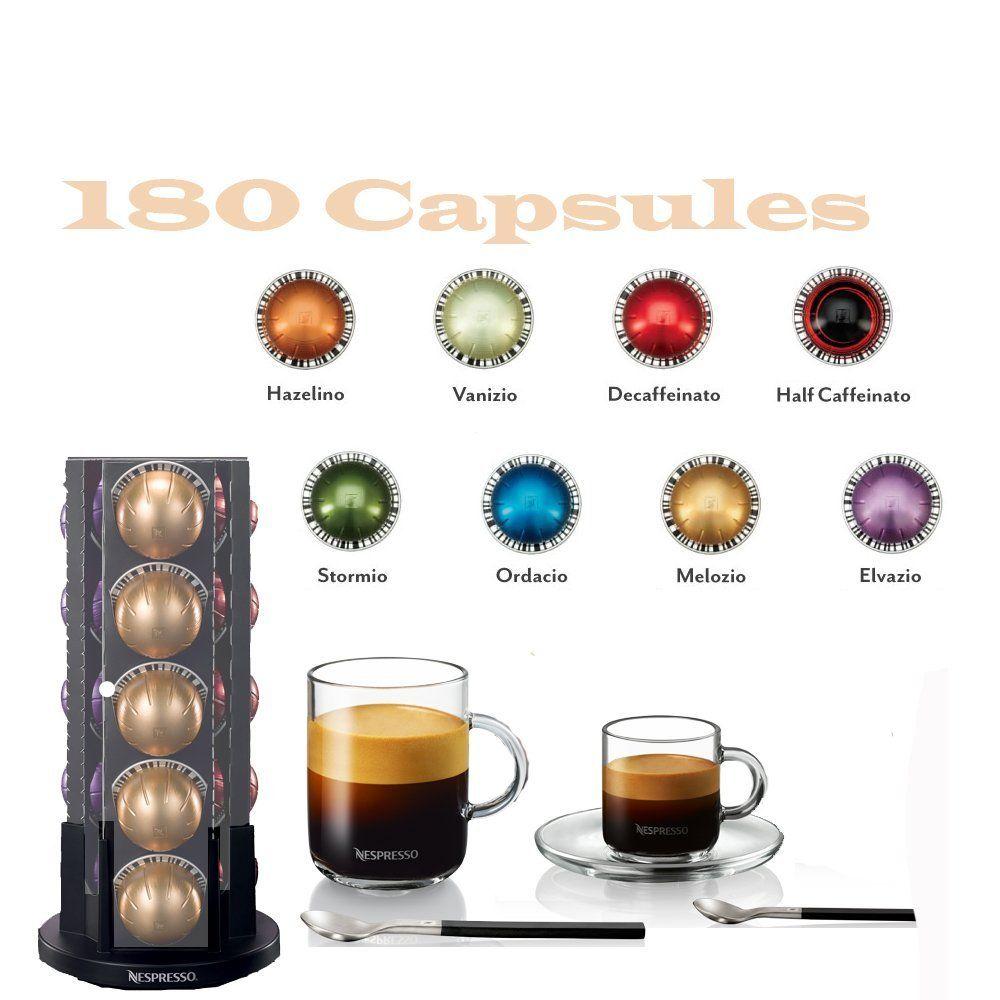 nespresso vertuoline coffee u0026 espresso vertuoline welcome set coffee 180 capsules