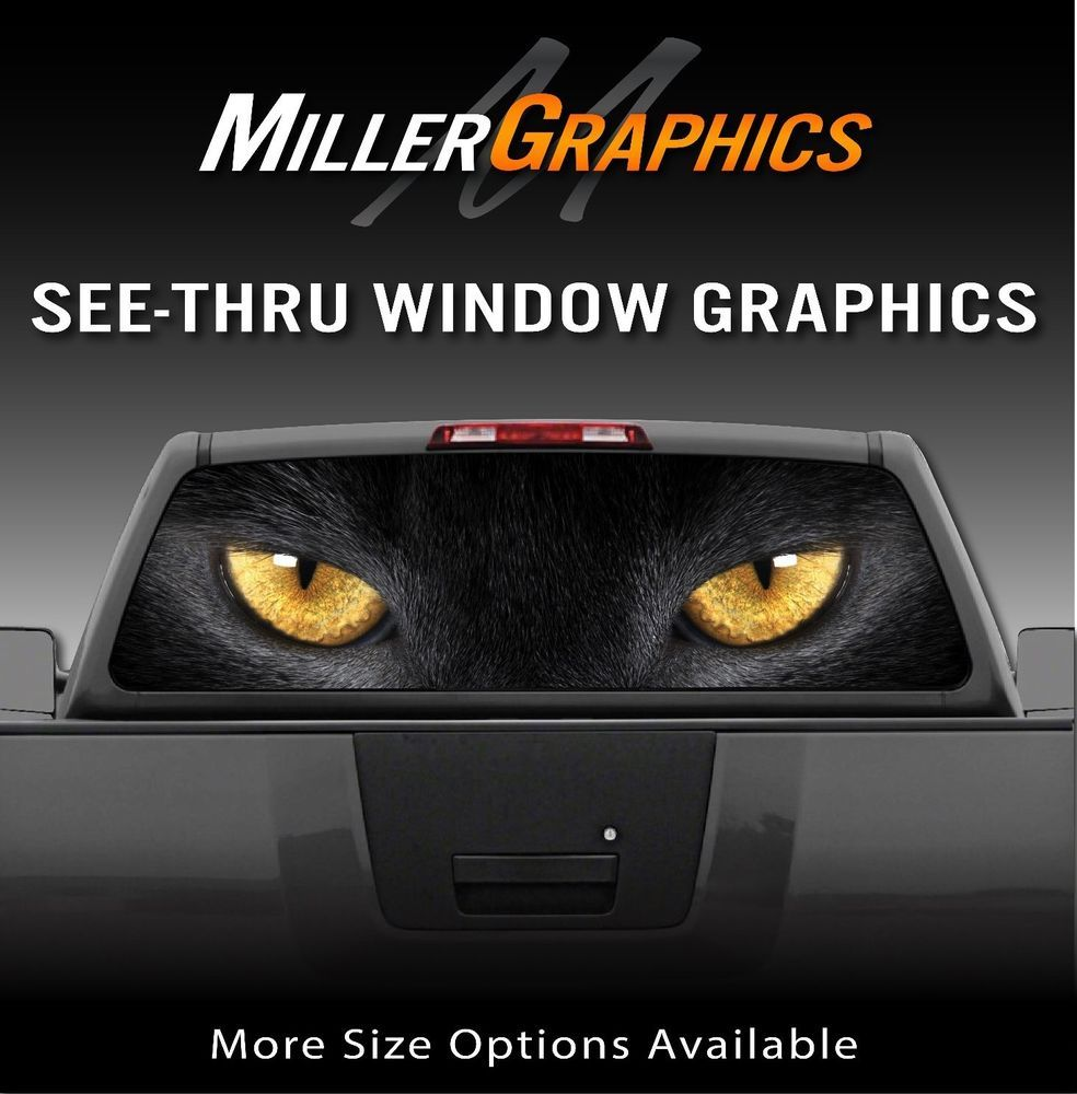 Vuscape truck rear window graphic made in michigan chevy fire diamond plate outdoors rear window decals rear window window decals