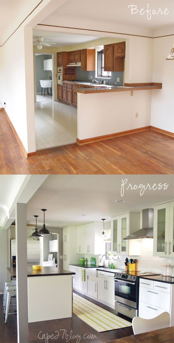 Kitchen Renovation Before After Open The Up To Living Room Really Want Take Out Part Of Wall Between And