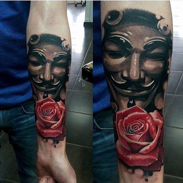12 Revolutionary V For Vendetta Tattoos Vendetta Tattoo V For Vendetta Tattoo V For Vendetta