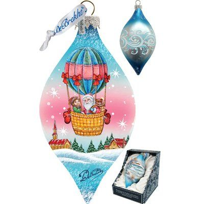G Debrekht Holiday Led Air Balloon Glass Ornament Christmas Ornaments Miniature Christmas Glass Ornaments
