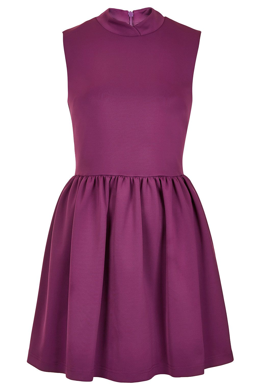 Purple skater dress: topshop