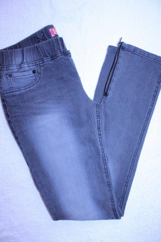 Tyte Jeans S American Standard  Gray Elastic Waist Stretch Skinny Jegging Denim #Tyte #SlimSkinny