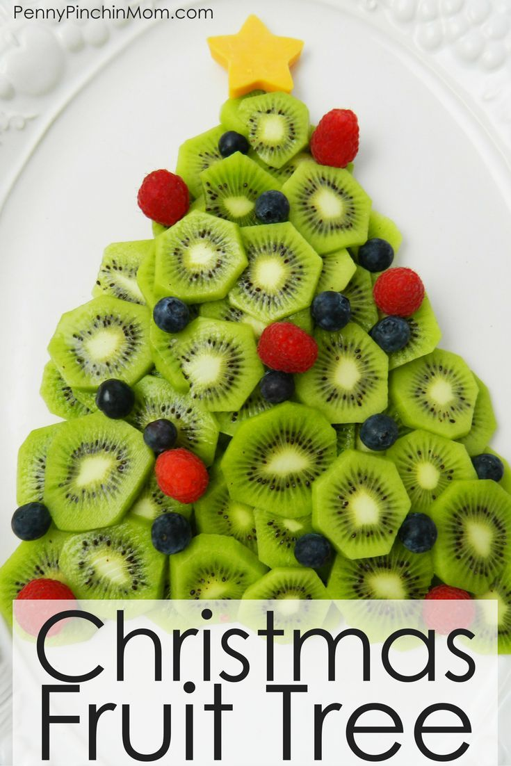 Christmas Fruit Tree | Christmas party snacks, Snacks and Food