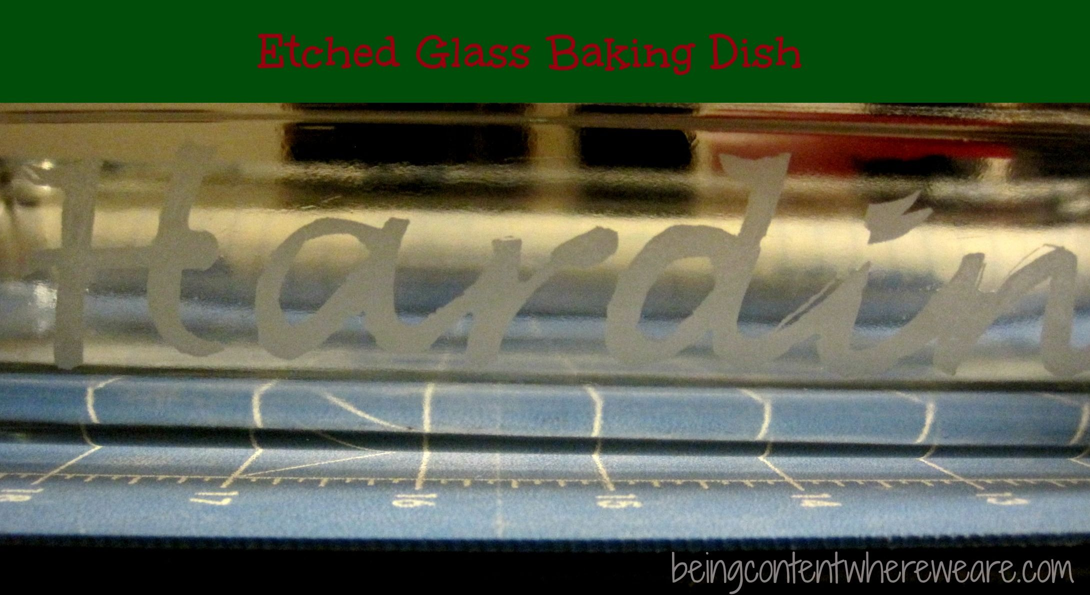 DIY etched glass backing dish - easy Christmas or Wedding ...