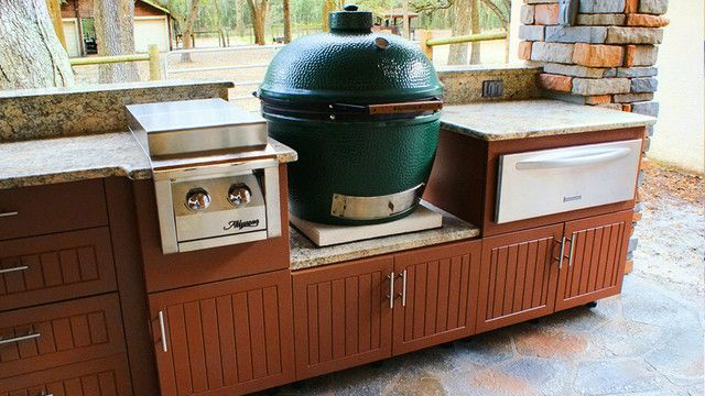The Feel Of An Outdoor Kitchen Using Kitchens Cabinets Specifically Outdoor Kitchen Cabinets Outdoor Kitchen Countertops Outdoor Kitchen Kits