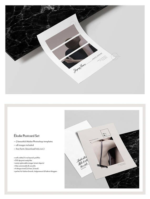 Ladypreneur Postcard Flyers Fashion Lifestyle Stationery