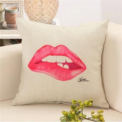 How To Wash Throw Pillows Without Removable Cover Fashion Red Lips Cushion Without Inner Lipstick Perfume Bottle Home