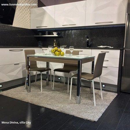 Mesa cocina Moderna Divina con esquinas redondeadas en 2019 ...