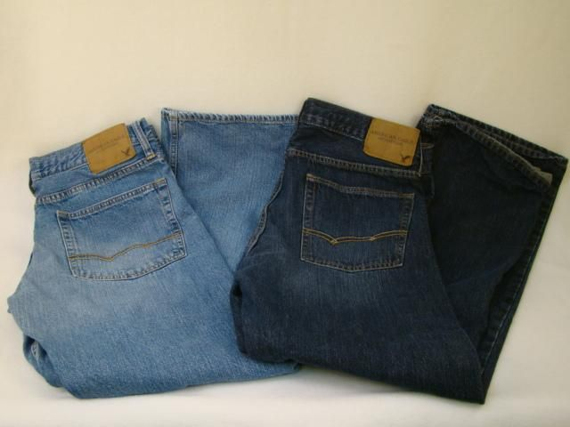2 American Eagle Outfitters Jeans Distressed Men's 33/32