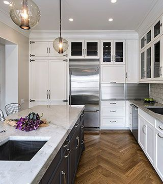 Luxury Meets Character In Timeless Kitchen Design With White Color Classy Chicago Kitchen Design Design Ideas