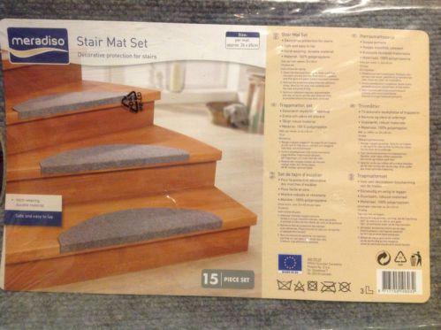Stair Protection Mat Set CARPET TREADS SET STEPS WEAR MATS 15pc | EBay
