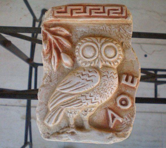Owl Of Athens Relief Ancient Greek Art Goddess Athena